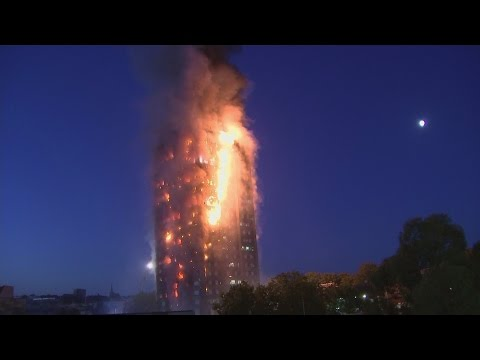Grenfell Tower fire: Huge blaze engulfs tower block in west London