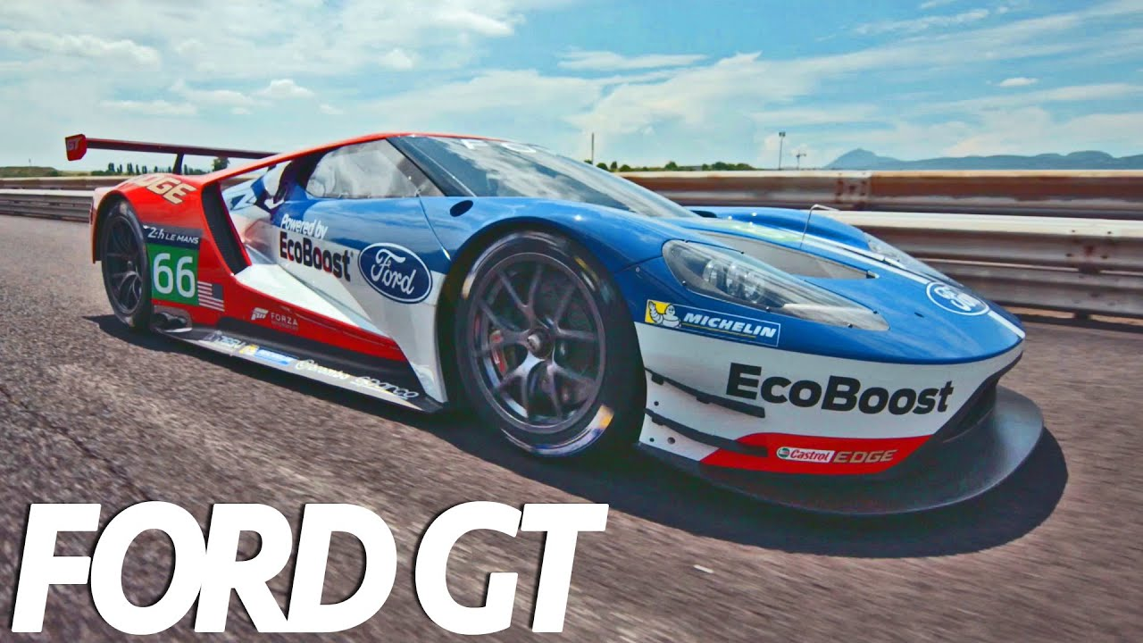 Ford Gt Race Car First Driving Youtube