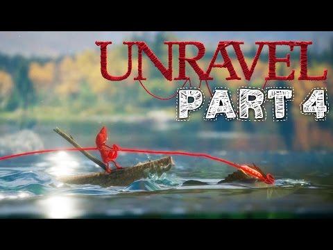 Unravel Gameplay Walkthrough Part 4 - MOUNTAIN TREK Chapter 4 All Collectibles & Secrets