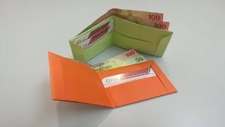 طريقة عمل مح�ظة نقود بالورق How to make a Paper Wallet