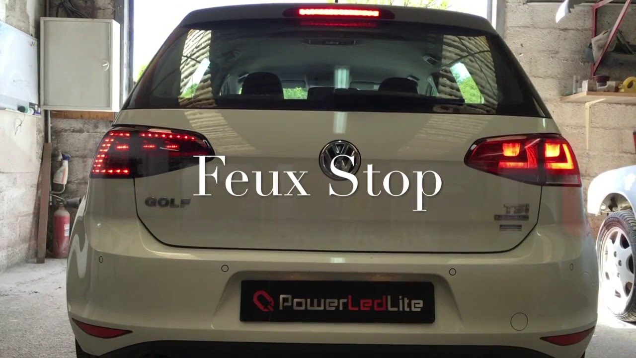 feux led vw golf 7 sur youtube. Black Bedroom Furniture Sets. Home Design Ideas