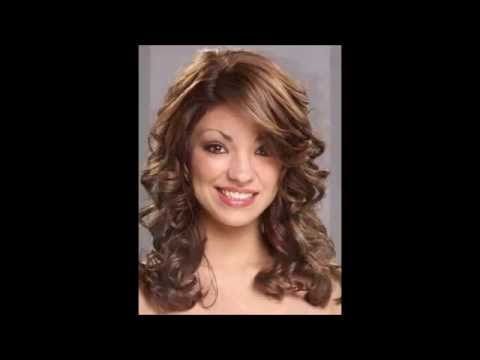 Round Face Curly Hairstyles Youtube