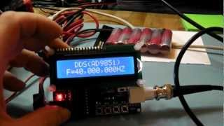 Repeat youtube video AD9851 DDS Signal Generator - Review and Test
