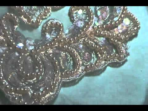 Huge selection of bridal gown appliques, Lorelei gown, stunning!