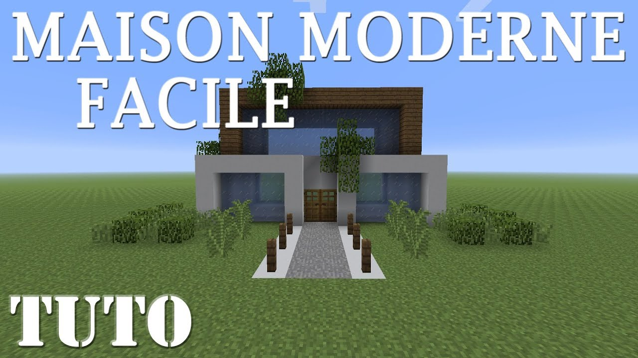 Minecraft Maison Moderne Facile A Faire Ps4 Youtube