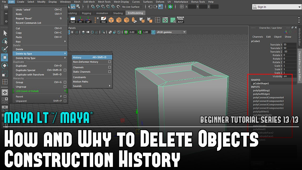 Maya LT/Maya: How and Why to Delete Objects Construction