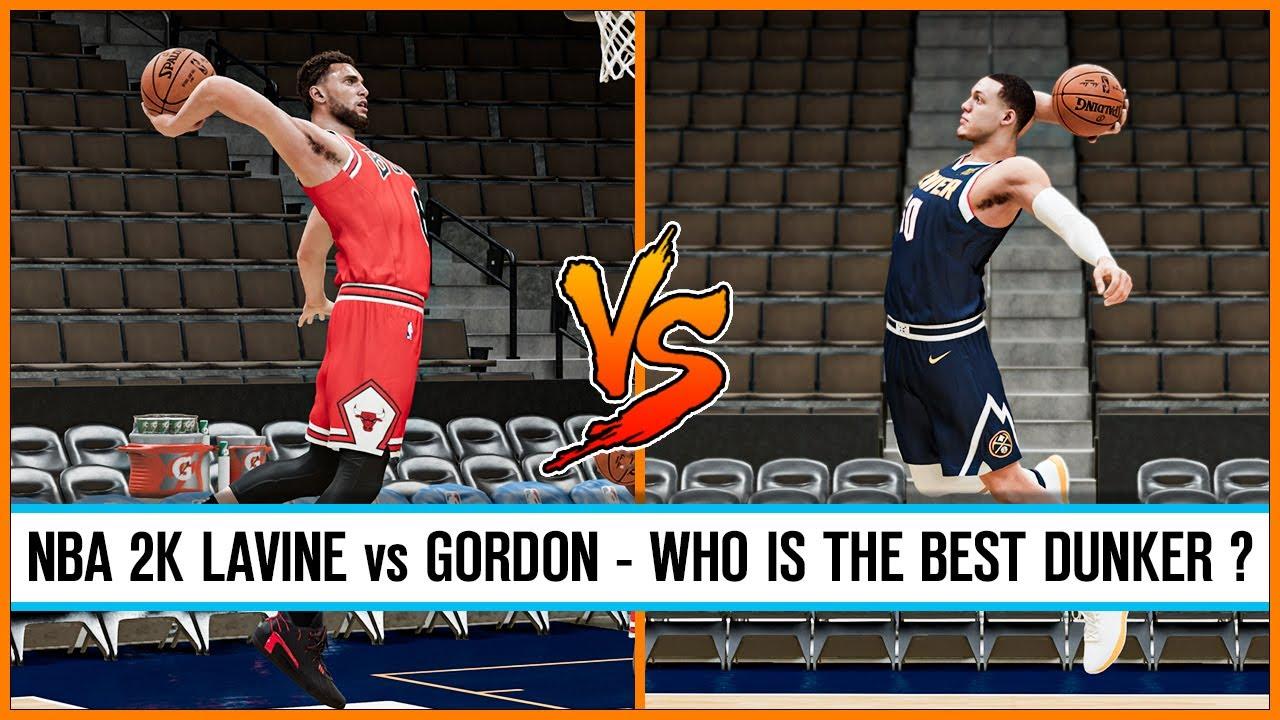 Zach Lavine vs Aaron Gordon, who is the best dunker in NBA 2K games ?