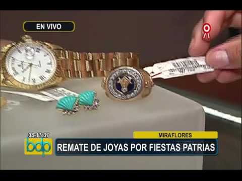 a33a75f645f5 Miraflores  se realiza remate de joyas de oro por Fiestas Patrias ...