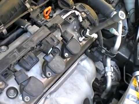 Honda Civic Cambio De Bujias Youtube