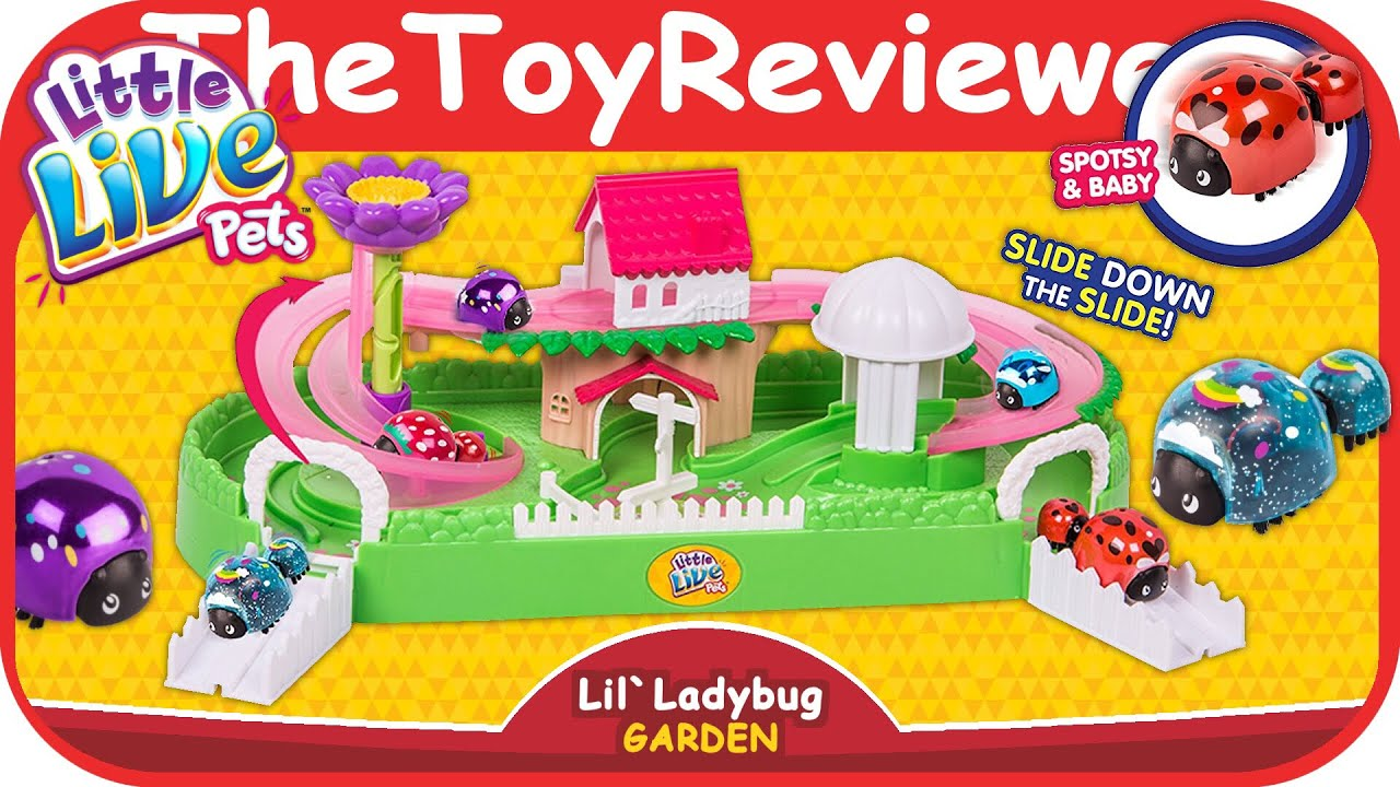 Little Live Pets Lil' Ladybug Garden Playset Blind Bag Figures Unboxing Toy  Review by TheToyReviewer
