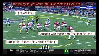 SCARY: Tua/Bama MASTERING NFL Concepts!