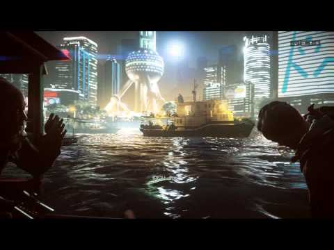 "Battlefield 4 - Shanghai: Refugee Boat Escape City EMP Blast Action Squence ""Follow Us"" - Irish"