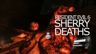 Sherry Birkin Death Scenes - Be Killed Awesomely Title Resident Evil 6