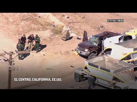 13 muertos, varios heridos, en accidente vial en California