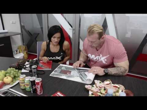 Dennis Wolf IFBB Pro and Olivia Pohankova IFBB Pro at Amix™ Nutrition factory