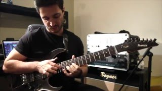 ignazio di salvo joins forces with ibanez guitars rg3727fzbh- fallen star.