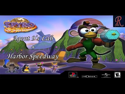 Spyro: Year of the Dragon | Cap. 33 | Agent 9's Lab + Harbor Speedway | 100% | 2.0