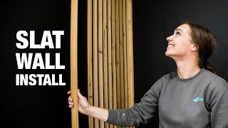 Slat wall install
