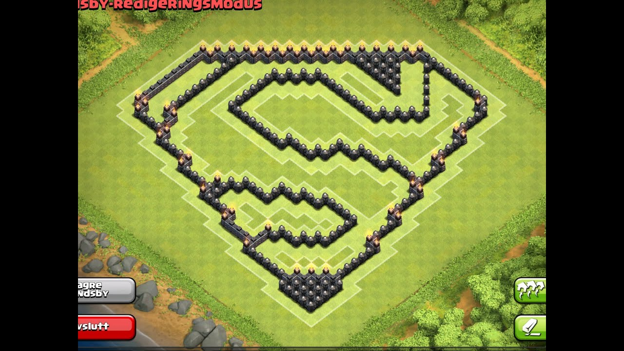 epic town hall 9 th9 farming base superman design   4th mortar