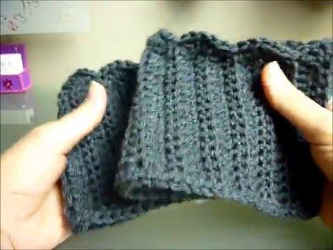 Easy Quick Crocheted Boot Cuffs W Scallop Edge Video Tutorial