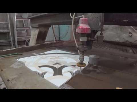 видео: Идеальный плиточный срез. Гидроабразивная резка керамогранита.