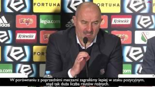 """Czerczesow spokojny po przegranej z Lechem - """"Nie mam pretensji"""""""