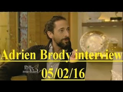 Adrien Brody interview Live! With Kelly and Michael 05/02/16