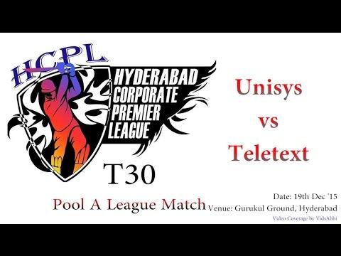 HCPL T30 Pool A League Match | Teletext vs Unisys