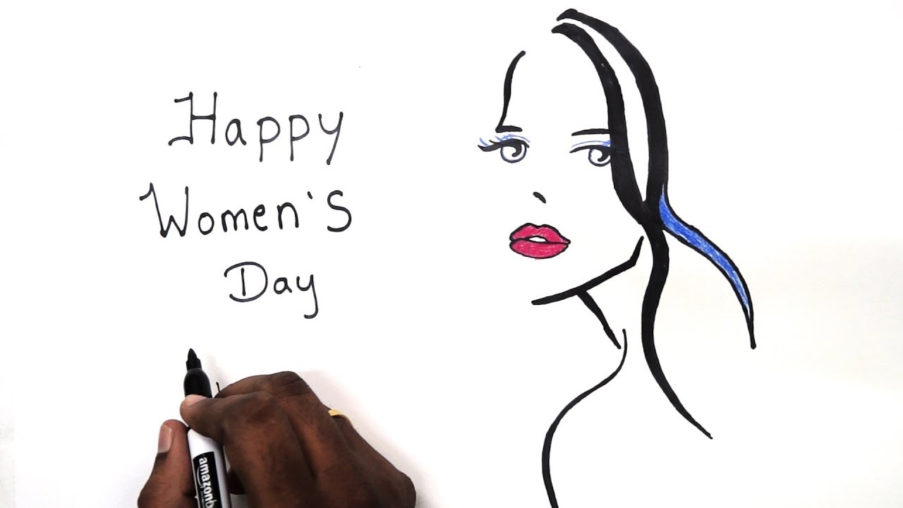 Womens day drawing s day