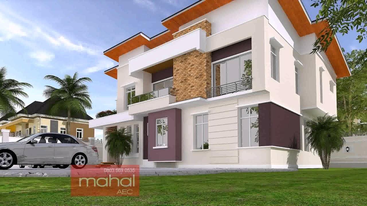 4 bedroom bungalow house design in nigeria youtube for Facade maison avec balcon