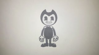 How To Draw Bendy From Bendy And The Ink Machine Step By Step