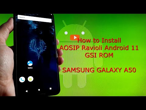 AOSIP Ravioli for Samsung Galaxy A50 Android 11 GSI