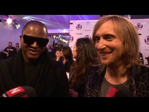 MTV EMA red carpet - Taio Cruz and David Guetta interview