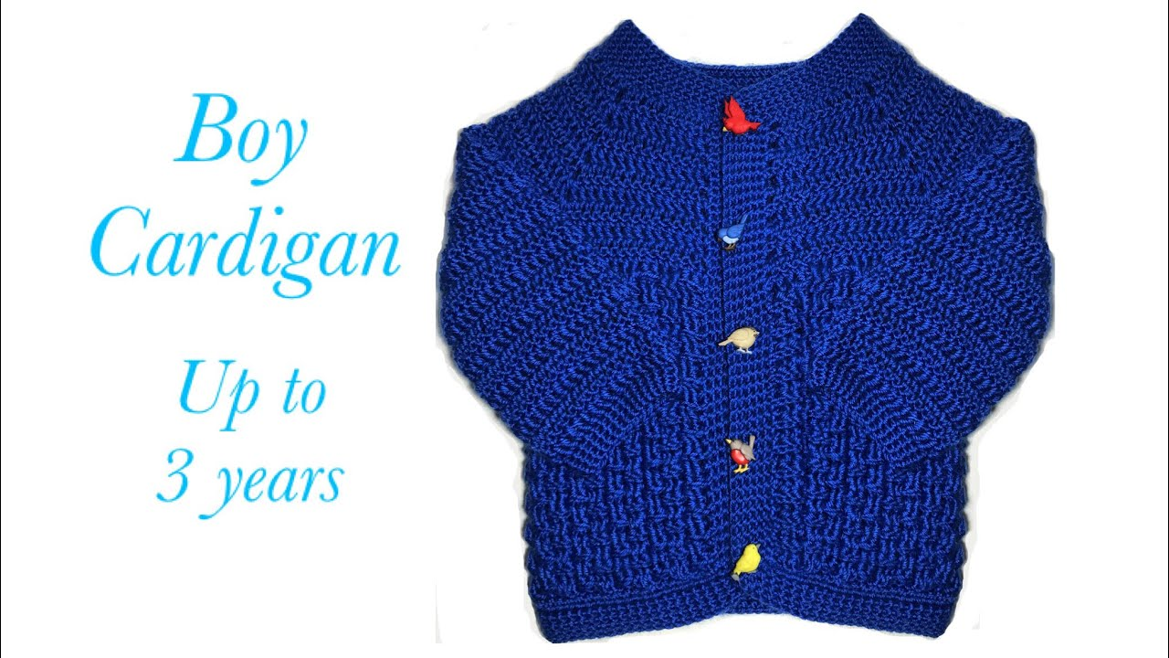00f69af19 Easy Crochet baby boy cardigan