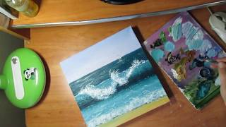 Простой способ нарисовать волну на море.
