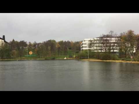 Gråvær og regn på Finnsnes