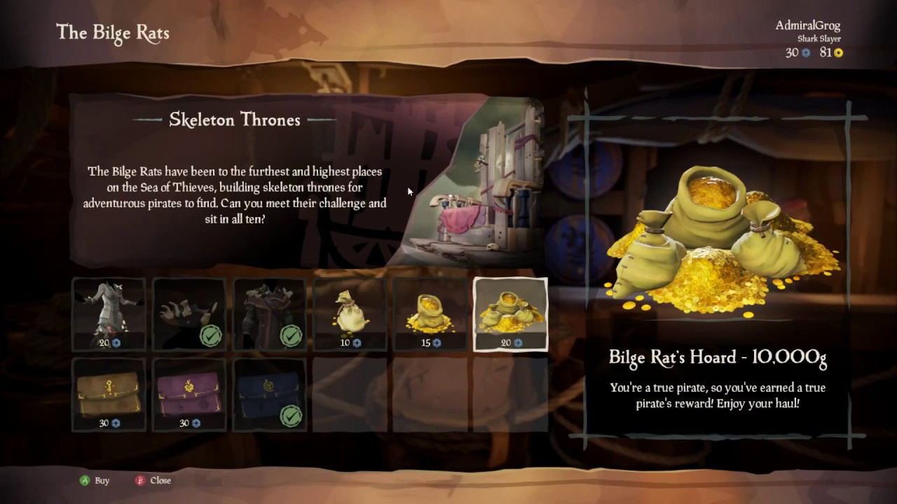 Sea of Thieves Letter of Recommendation 30 dubs ? worth it ? 1.1.2