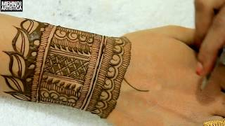 Leafy Bharwa Mehndi Designs 2018 Most Requested Bharwa Mehndi