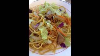 Vegetarian Filipino Pancit Canton Noodles with Rainbow