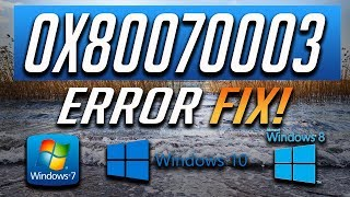 Fix Windows Update Error 0x80070003 in Windows 10/8/7 [2019 Tutorial]