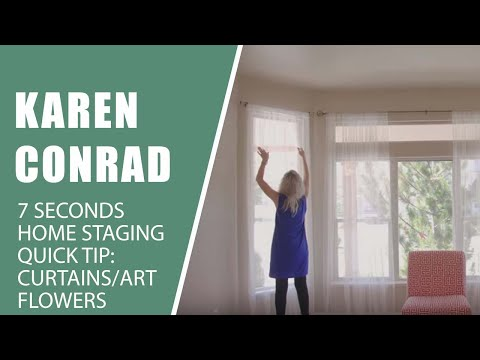 7 Seconds | Home Staging Tip 4 - Curtains, Art, Flowers & More