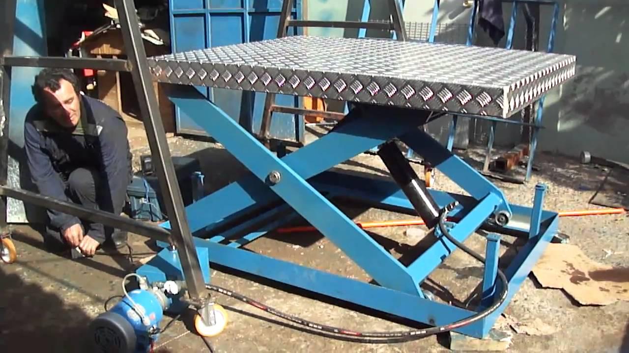 mesa de tijera hidraulica youtube