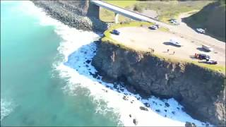 Drone video shows site of Hart family's SUV crash near Mendocino, CA
