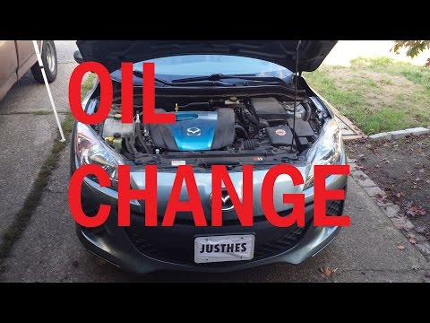 2013 Mazda3  | 10,000 Mile Oil Change | How To