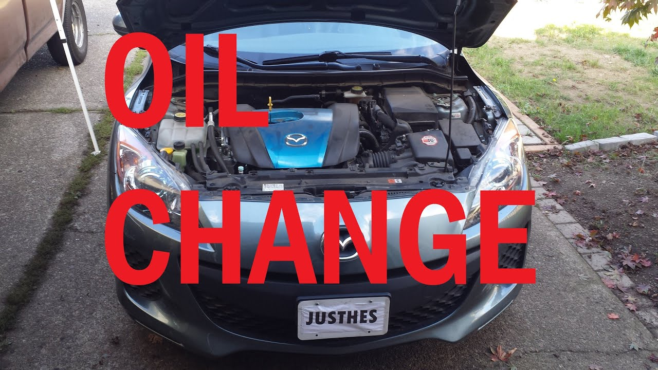 how to change oil mazda 3