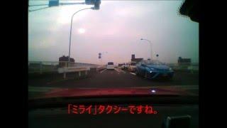 水素自動車「ミライ」のタクシーです。 今月に入り、よく見かけるように...