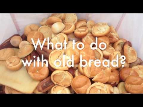 Bread pellets for animal feed