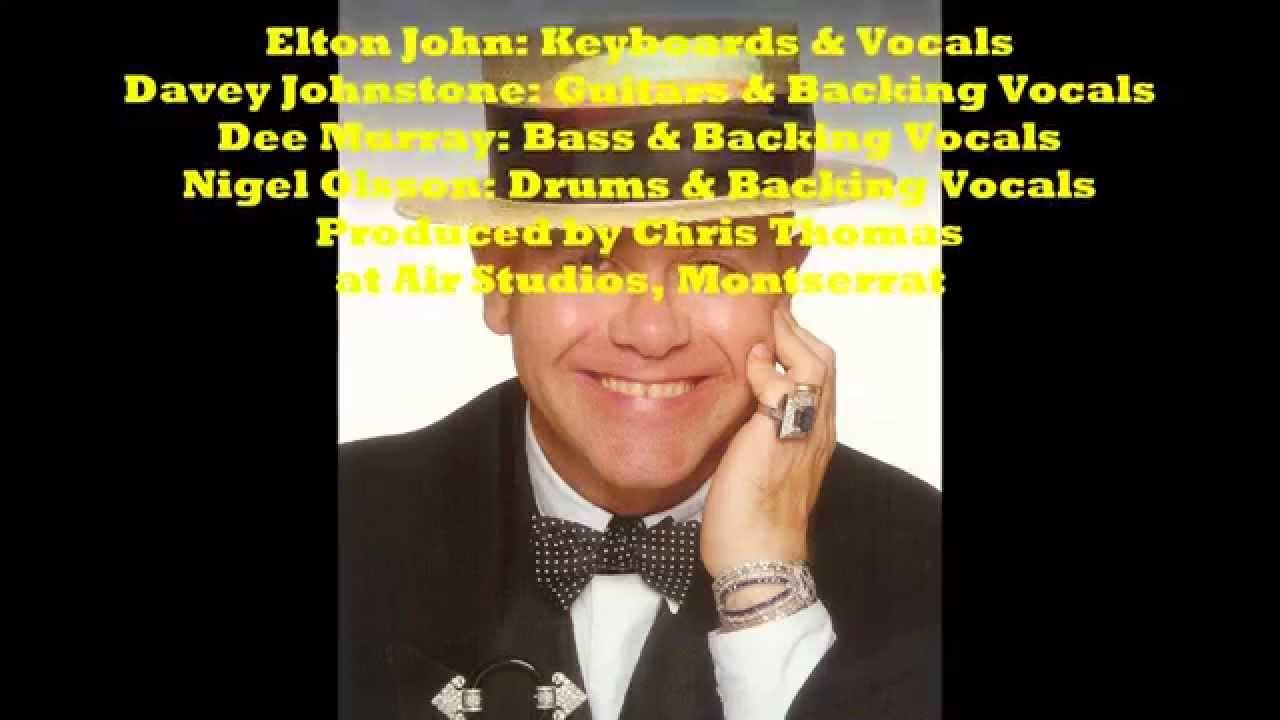 Elton John Crystal 1983 With Lyrics Youtube
