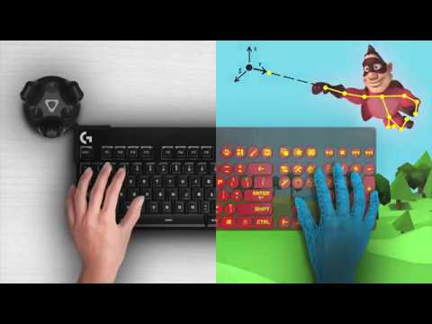 Logitech made a VR keyboard kit so you can type in the Vive