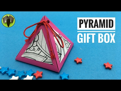 Pyramid Gift Box - DIY | How to make | Tutorial by Paper Folds - 795